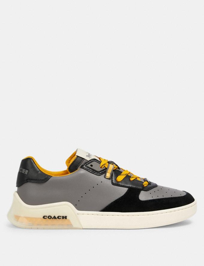 Coach Citysole Court Sneaker in Colorblock Heather Grey Bright Yellow  Alternate View 1
