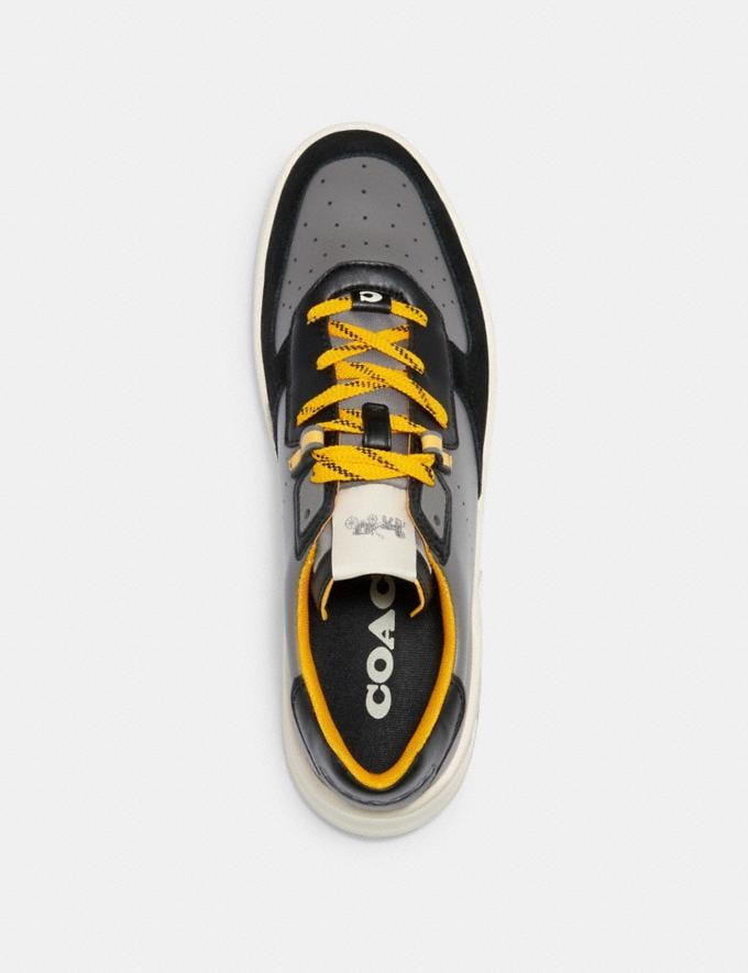 Coach Citysole Court Sneaker in Colorblock Heather Grey Bright Yellow  Alternate View 2