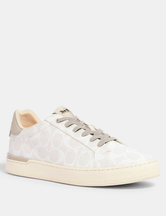 Coach Clip Low Top Sneaker Chalk