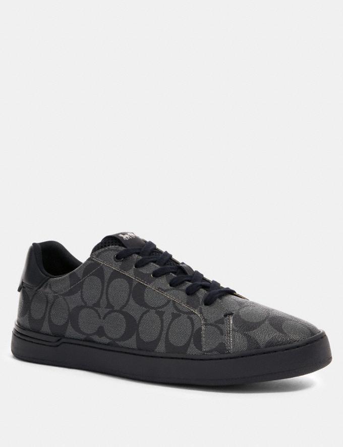 Coach Clip Low Top Sneaker Charcoal/Black