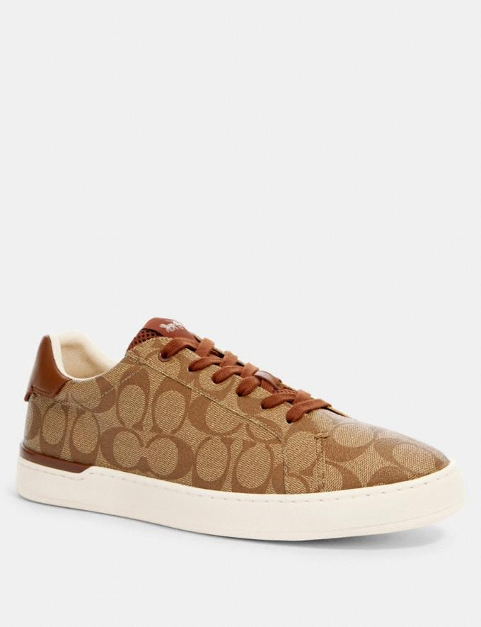 Coach Clip Low Top Sneaker Khaki/Saddle