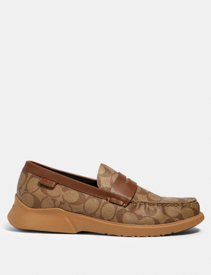 Coach Citysole Loafer Khaki/Saddle  Alternate View 1