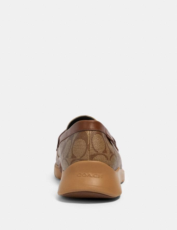 Coach Citysole Loafer Khaki/Saddle  Alternate View 3