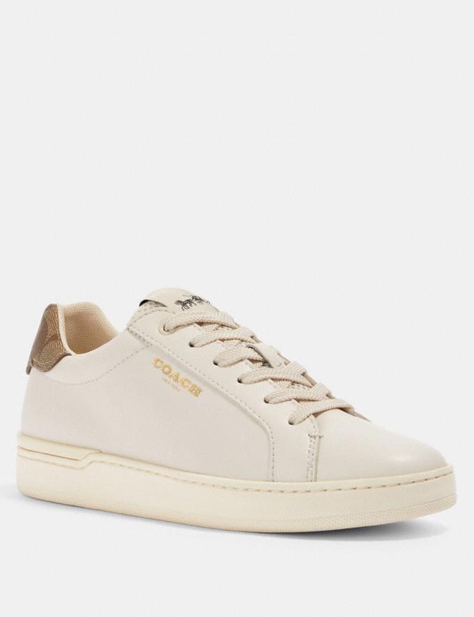 Coach Clip Low Top Sneaker Chalk/Khaki