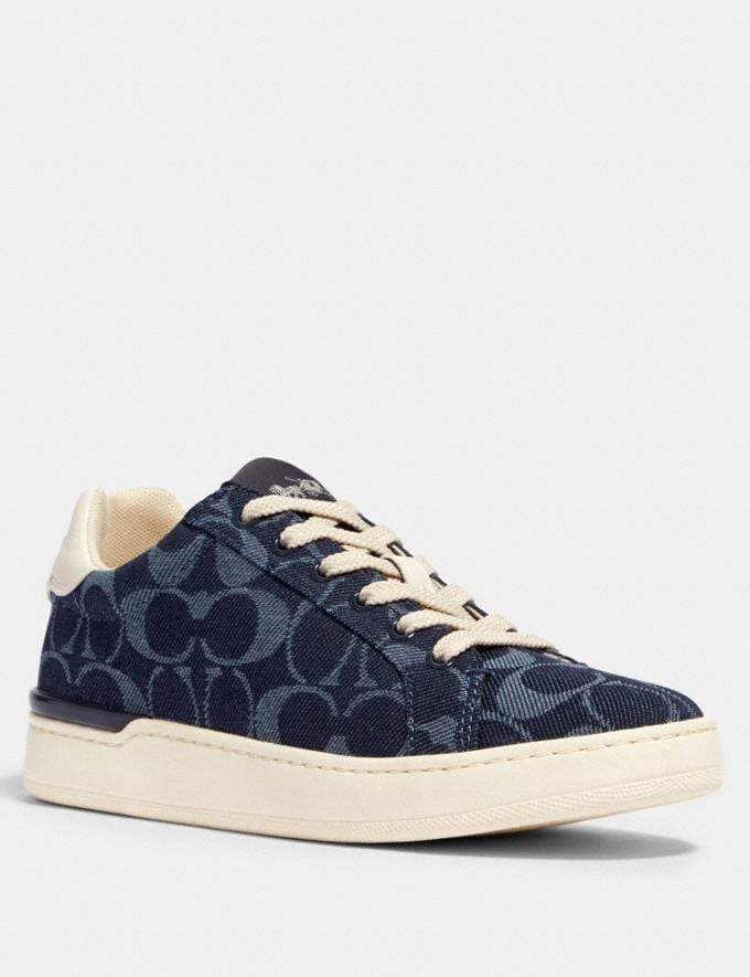 Coach Clip Low Top Sneaker Denim