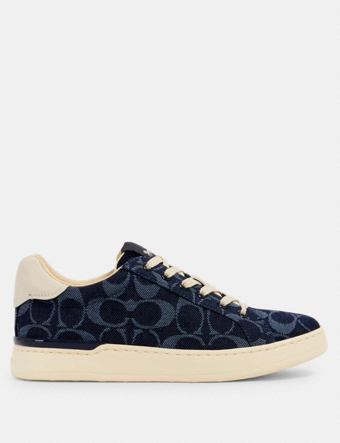 Coach Clip Low Top Sneaker Denim  Alternate View 1