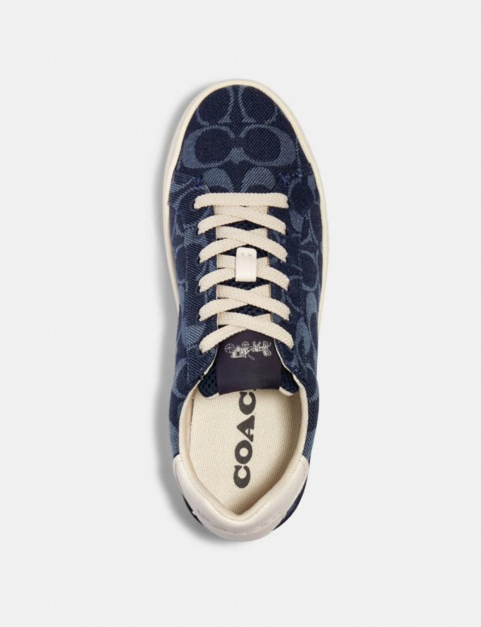 Coach Clip Low Top Sneaker Denim  Alternate View 2