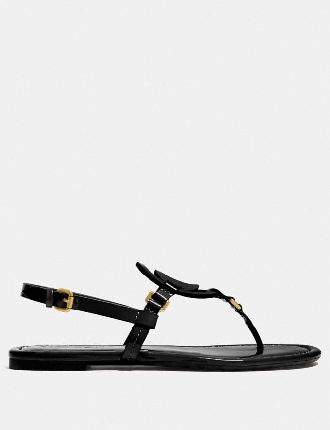 Coach Jeri Sandal Black New Women's New Arrivals Shoes Alternate View 1