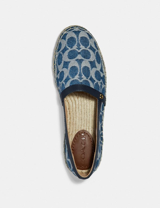Coach Casey Espadrille Denim New Women's New Arrivals Shoes Alternate View 2
