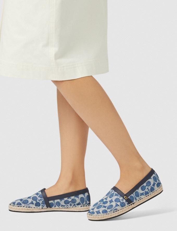 Coach Casey Espadrilles Denim Damen Schuhe Flache Schuhe Alternative Ansicht 4