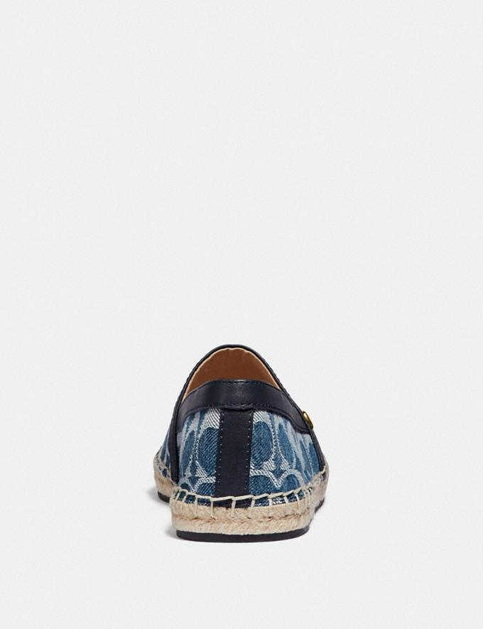 Coach Casey Espadrille Denim Women Shoes Flats Alternate View 3