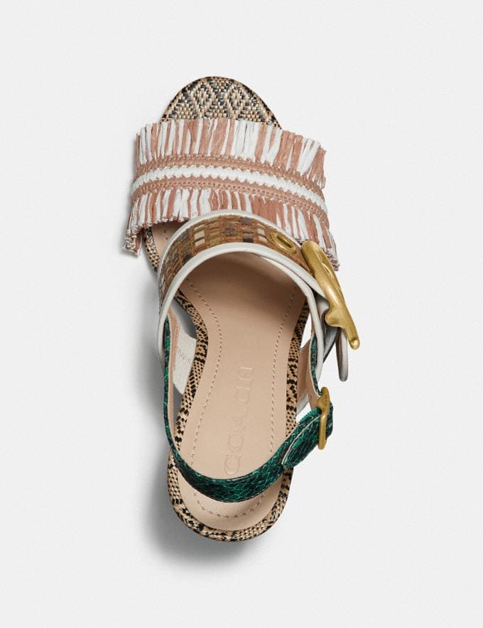 Coach Robin Sandal Pale Blush/Chalk  Alternate View 2