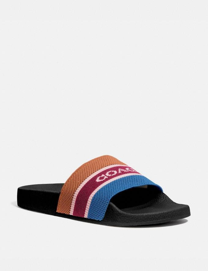 Coach Knit Slide Multi Men Shoes Sandals & Slides