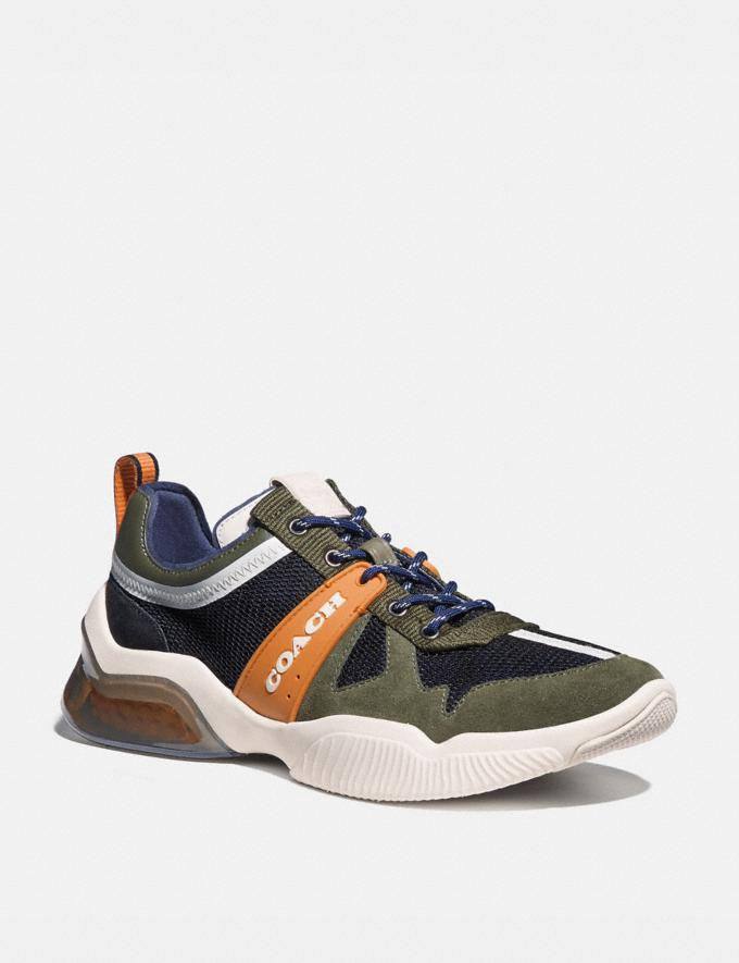 Coach Citysole Runner True Navy/ Washed Utility Men Shoes Trainers