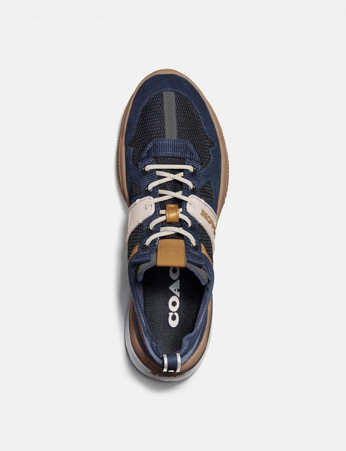 Coach Citysole Runner Deep Sky True Navy Men Shoes Trainers Alternate View 2