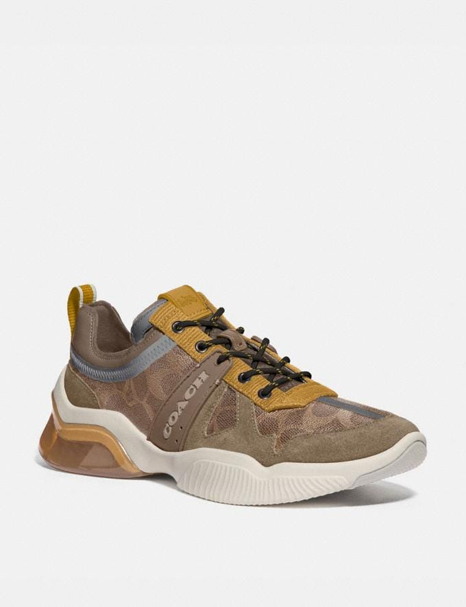 Coach Citysole Runner Khaki Flax New Men's New Arrivals Shoes