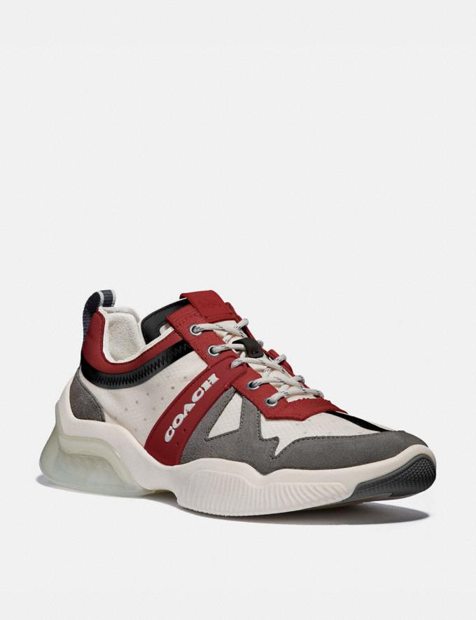 Coach Citysole Runner Chalk Sport Red New Men's New Arrivals Shoes