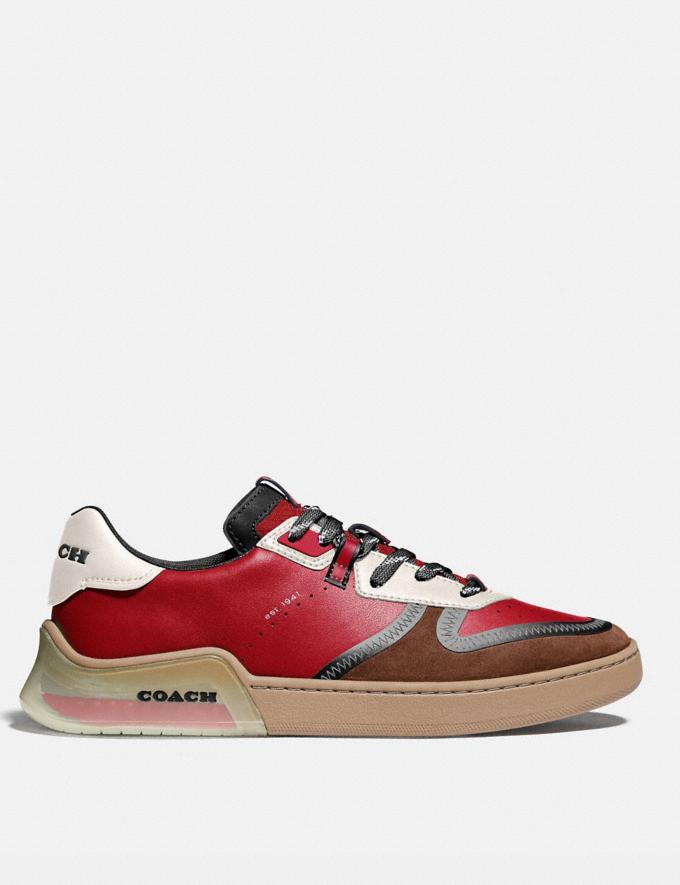 Coach Citysole Court Sneaker in Colorblock Dark Cardinal Saddle Men Shoes Trainers Alternate View 1