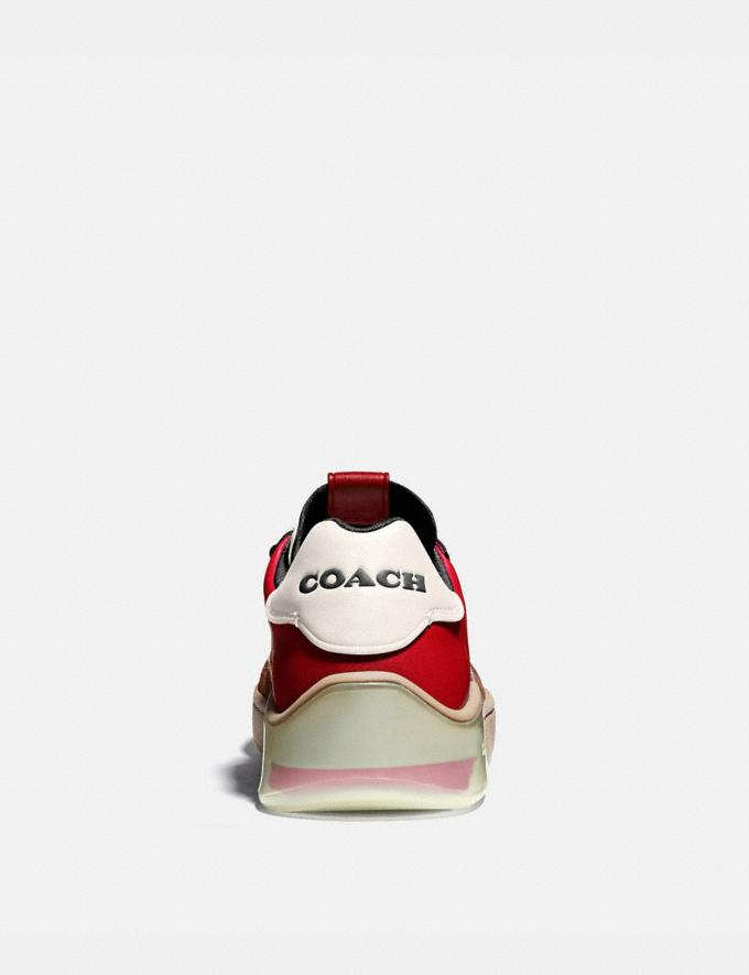 Coach Citysole Court Sneaker in Colorblock Dark Cardinal Saddle Men Shoes Trainers Alternate View 3