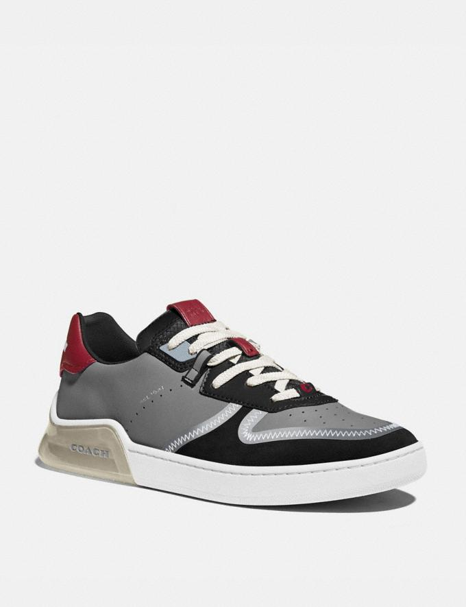 Coach Citysole Court Sneaker in Colorblock Washed Steel Black Men Shoes CitySole