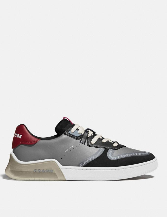 Coach Citysole Court Sneaker in Colorblock Washed Steel Black Men Shoes Trainers Alternate View 1