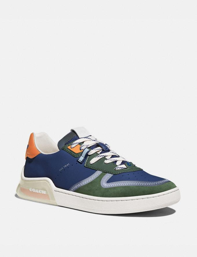 Coach Citysole Court Sneaker in Colorblock True Navy/ Washed Utility Men Shoes Trainers