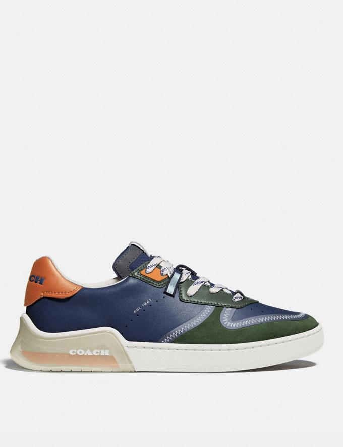 Coach Citysole Court Sneaker in Colorblock True Navy/ Washed Utility Men Shoes Trainers Alternate View 1