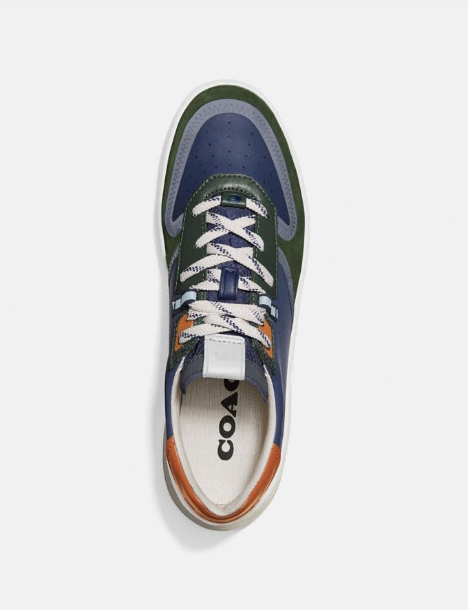 Coach Citysole Court Sneaker in Colorblock True Navy/ Washed Utility  Alternate View 2
