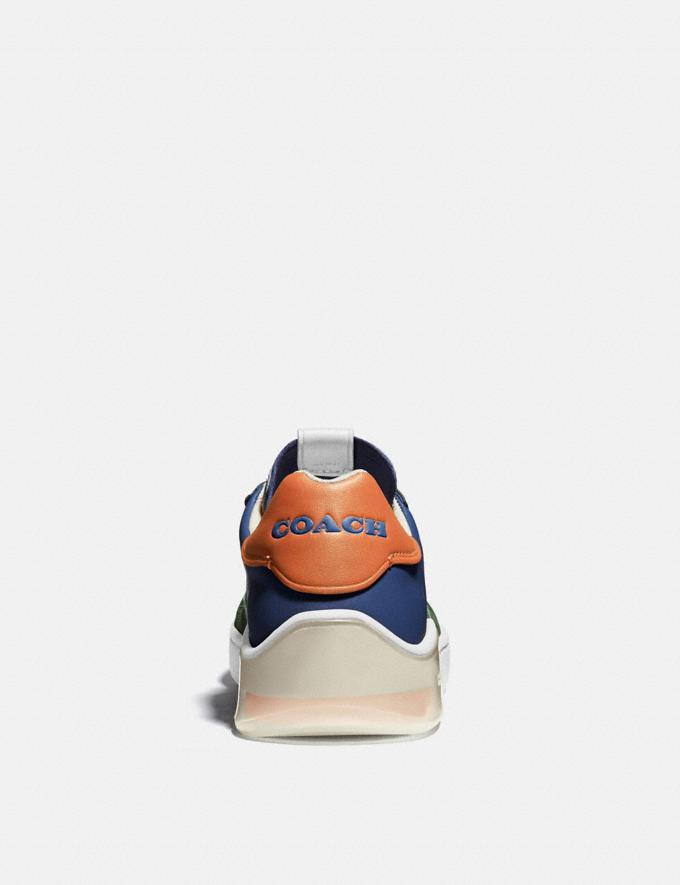 Coach Citysole Court Sneaker in Colorblock True Navy/ Washed Utility Men Shoes Trainers Alternate View 3