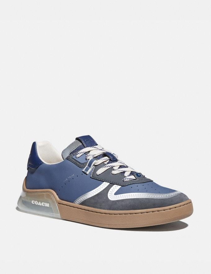 Coach Citysole Court Sneaker in Colorblock Blue Mist Grey Men Shoes CitySole