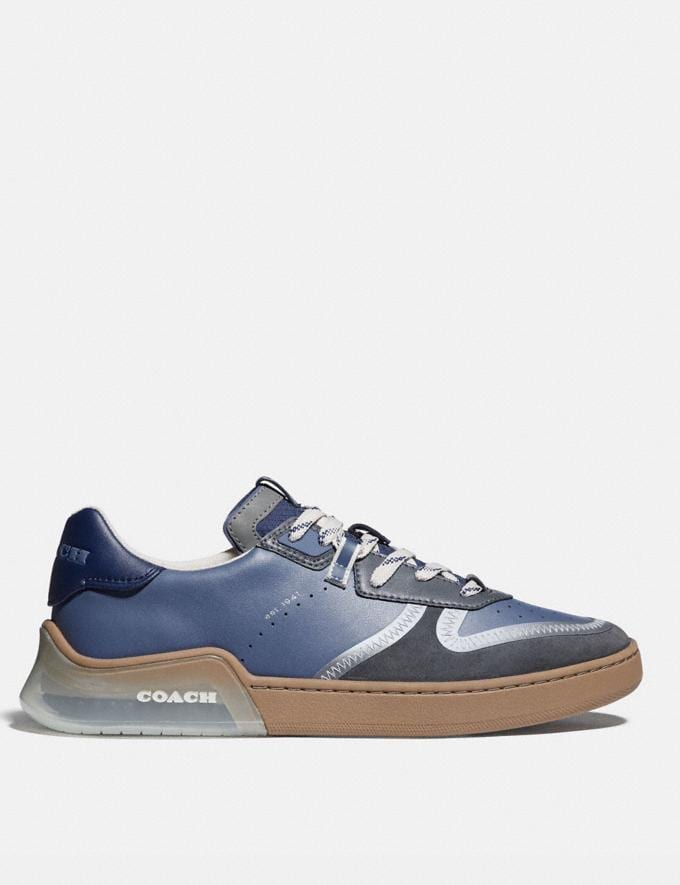 Coach Citysole Court Sneaker in Colorblock Blue Mist Grey Men Shoes Trainers Alternate View 1