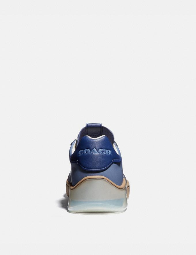 Coach Citysole Court Sneaker in Colorblock Blue Mist Grey Men Shoes CitySole Alternate View 3