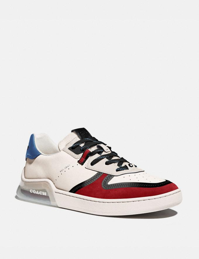 Coach Citysole Court Sneaker in Colorblock Chalk Dark Cardinal Men Shoes Trainers