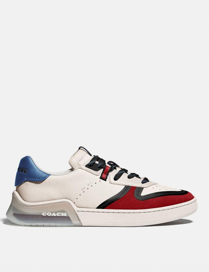 Coach Citysole Court Sneaker in Colorblock Chalk Dark Cardinal Men Shoes Trainers Alternate View 1