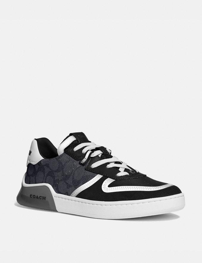 Coach Citysole Court Sneaker Charcoal/Black Men Shoes
