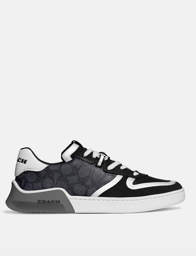 Coach Citysole Court Sneaker Charcoal/Black New Men's New Arrivals Shoes Alternate View 1