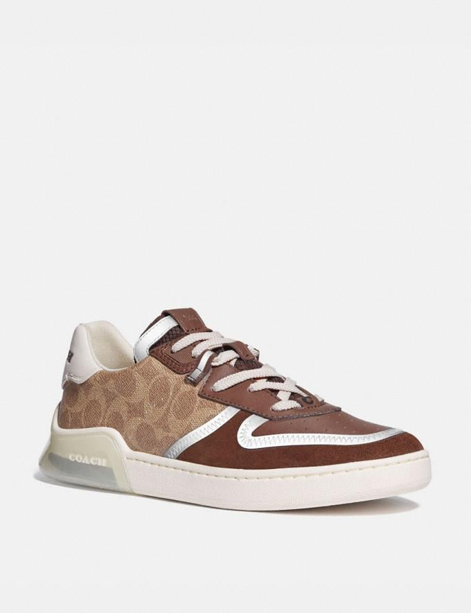 Coach Citysole Court Sneaker Khaki/Saddle Men Shoes Sneakers