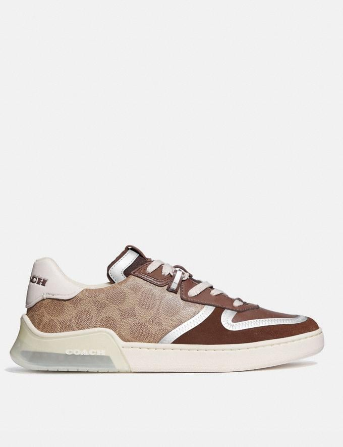 Coach Citysole Court Sneaker Khaki/Saddle New Men's New Arrivals Shoes Alternate View 1