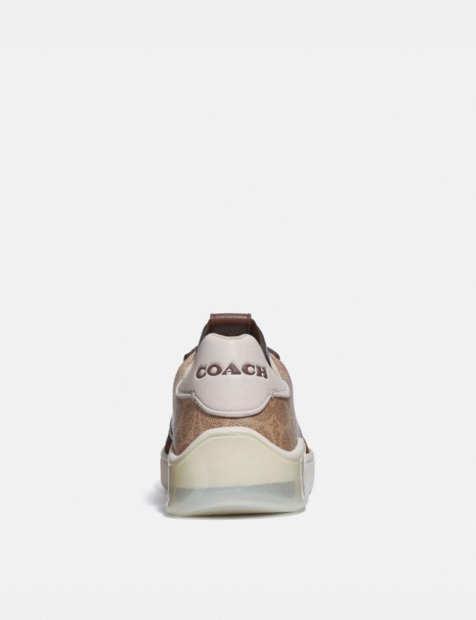 Coach Citysole Court Sneaker Khaki/Saddle Men Shoes Alternate View 3