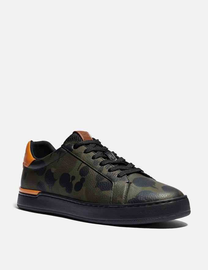 Coach Lowline Low Top Sneaker With Wild Beast Print Military Wildbeast/Clementine Men Shoes CitySole