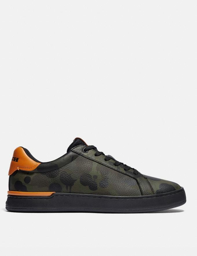 Coach Lowline Low Top Sneaker With Wild Beast Print Military Wildbeast/Clementine Men Shoes CitySole Alternate View 1