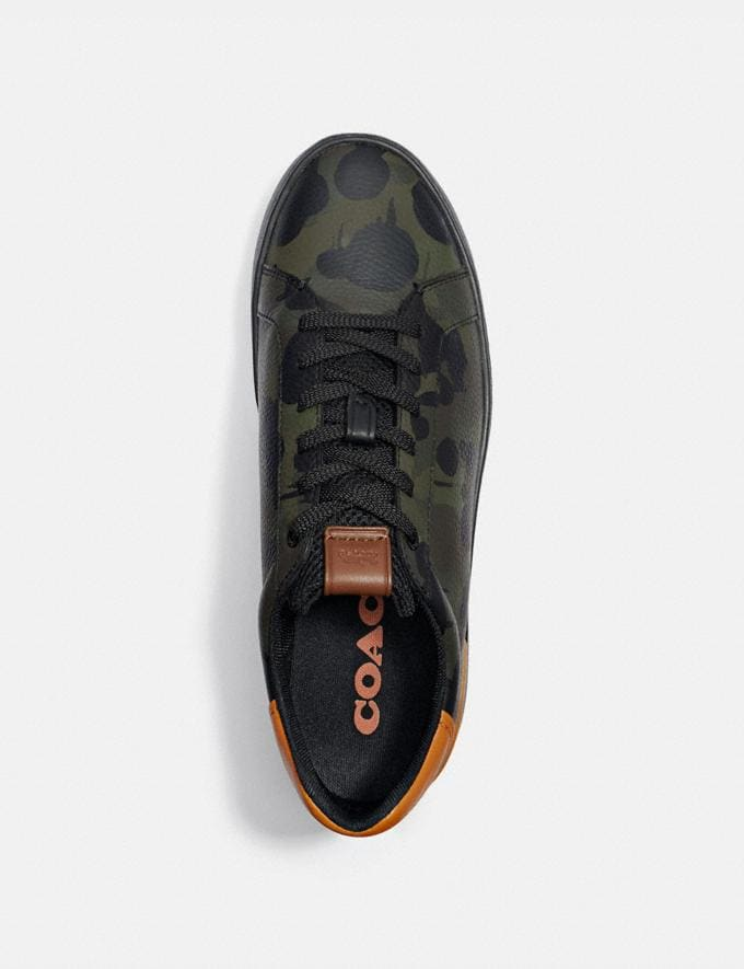 Coach Lowline Low Top Sneaker With Wild Beast Print Military Wildbeast/Clementine Men Shoes CitySole Alternate View 2