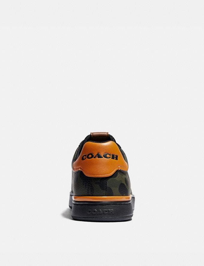Coach Lowline Low Top Sneaker With Wild Beast Print Military Wildbeast/Clementine Men Shoes CitySole Alternate View 3
