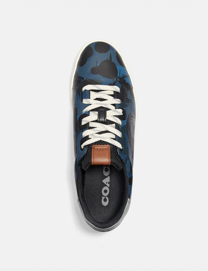 Coach Lowline Low Top Sneaker With Wild Beast Print Denim Wildbeast/Washed Steel Men Shoes Trainers Alternate View 2