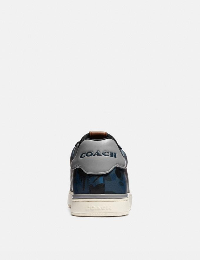 Coach Lowline Low Top Sneaker With Wild Beast Print Denim Wildbeast/Washed Steel New Men's New Arrivals Shoes Alternate View 3