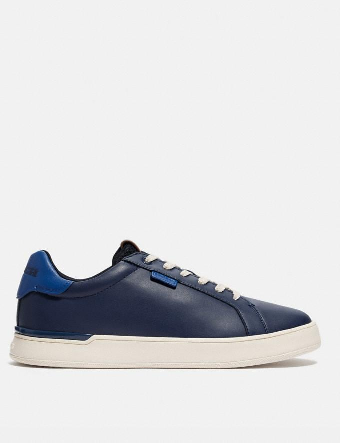 Coach Lowline Low Top Sneaker in Colorblock True Navy/Deep Sky Men Shoes CitySole Alternate View 1