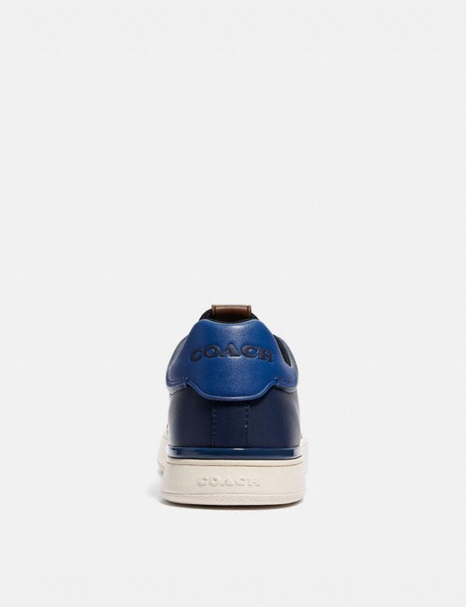 Coach Lowline Low Top Sneaker in Colorblock True Navy/Deep Sky Men Shoes CitySole Alternate View 3