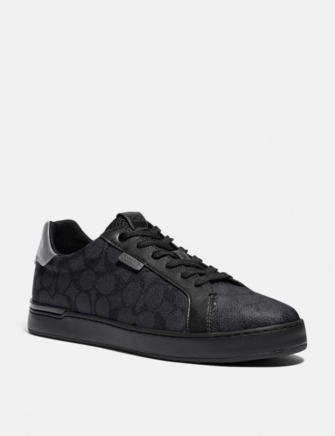 Coach Lowline Low Top Sneaker Charcoal/Grey Men Shoes Sneakers
