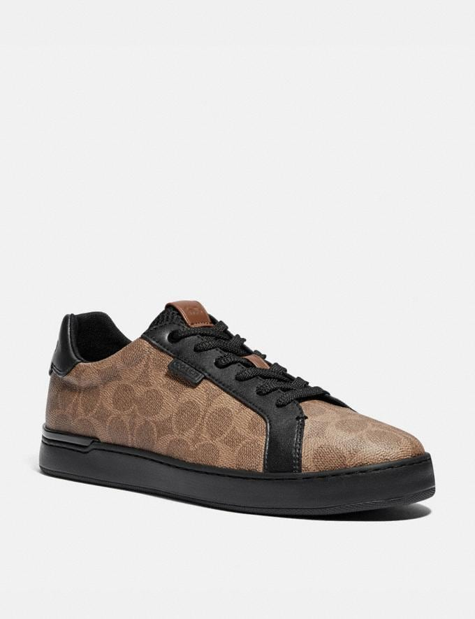 Coach Lowline Low Top Sneaker Khaki/Black Men Shoes Sneakers