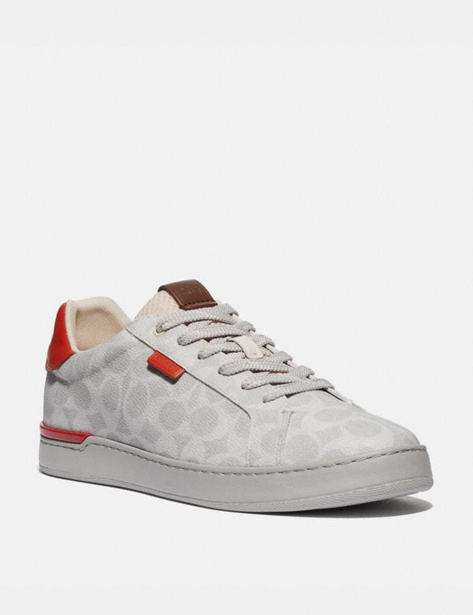 Coach Lowline Low Top Sneaker Chalk Mango Men Shoes Trainers